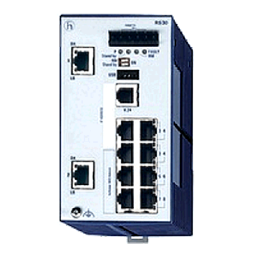 Open Rail Gigabit Endüstriyel Ethernet Switch 8-24 ports RS30 Serisi