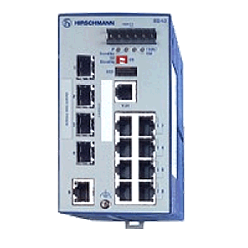 Open Rail Full Gigabit Ethernet Switch 9 ports RS40 Series