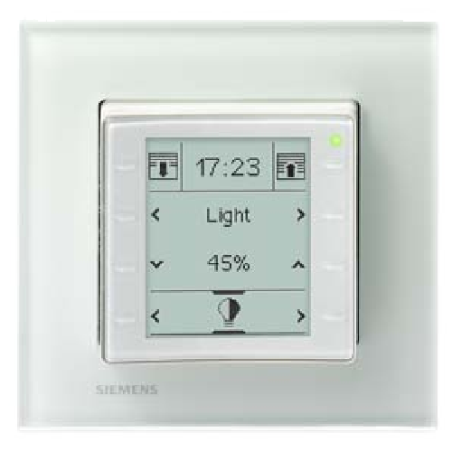 5WG1227-2AB11 Siemens KNX Room Control Unit UP227 LCD Display Capacitive Touch Sensors Titanium White