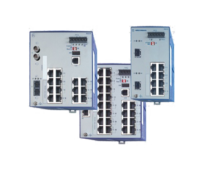 RS20 Series Open Rail Fast Ethernet Industrial Switch 4-25 Ports